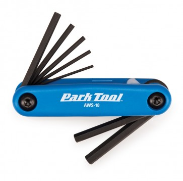 Fold-up Hex Wrench Set:  1.5mm to 6mm