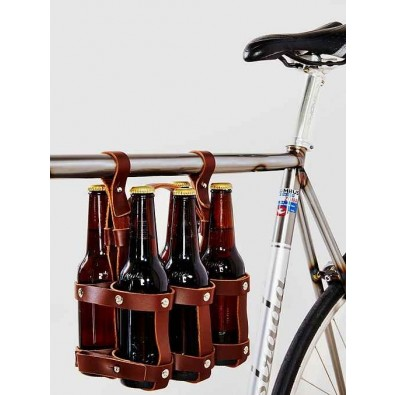 Fyxation Leather 6 pack caddy - Brown