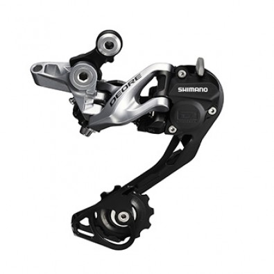 Shimano Deore Rear Derailleur, RD-M615-SGS, 10-Speed, Shadow, Black