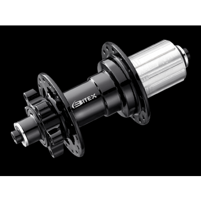 Bitex BX207R Rear Disc Hub, ISO, Black, 36h, QR M10*135mm, Shimano 11s(w/abs)