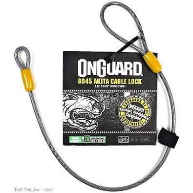 "On Guard Saddle locking cable 21"" x 5mm"