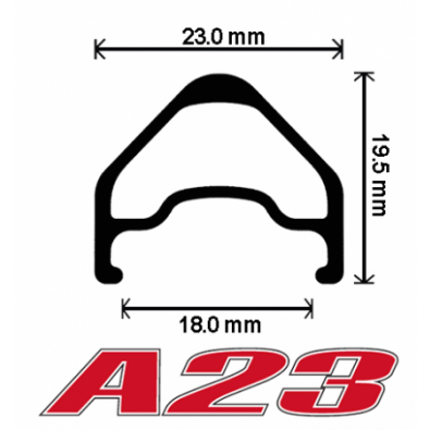 "Velocity A23 Rims w/MSW - 700c / 28"""