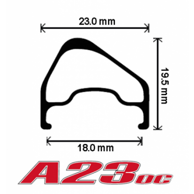 "Velocity A23 OC Rims w/MSW - 700c / 28"""