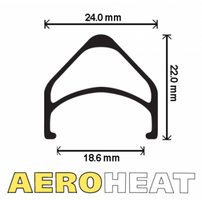 "Velocity Aeroheat Rim, 24"" 32h w/MSW Black"