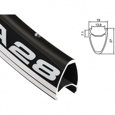 Alex 700c Rim - DA28 Black Presta