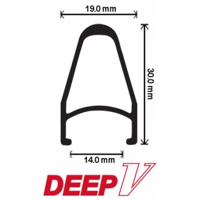 "Velocity Deep V Rims - 700c / 28"""