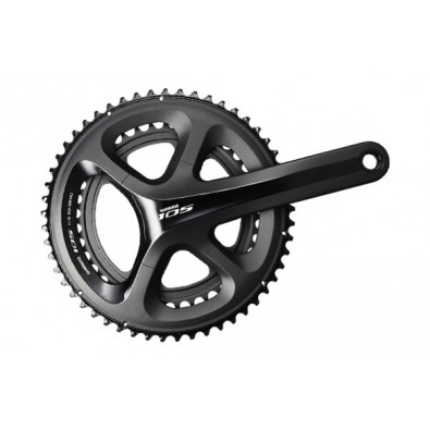 Shimano 105 11-Speed Crankset, FC-5800, 53x39T, Black, 172.5MM