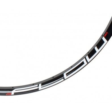 NoTubes Rim, Flow Mk3 26, 32h, Black, White/Red 485C