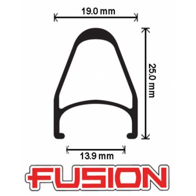 "Velocity Fusion Rims - 700c / 28"""