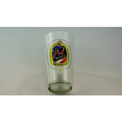 Phil Wood Pint Glass with Phil Made in USA Logo