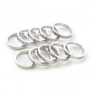 """Wheels Manf. - Headset spacer, 1 1/8""""x 5mm, silver, 10 pack"""