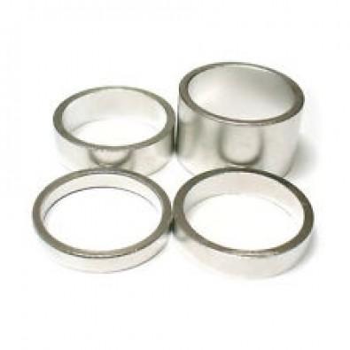 "Wheels Manf. - 1-1/8"" Silver Aluminium Headset Spacers, 1 pc"