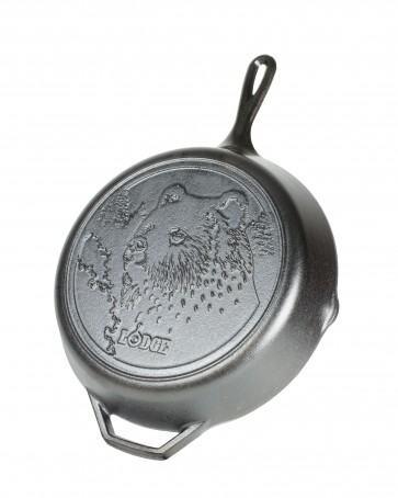 Lodge 12 Inch Cast Iron Skillet, Bear