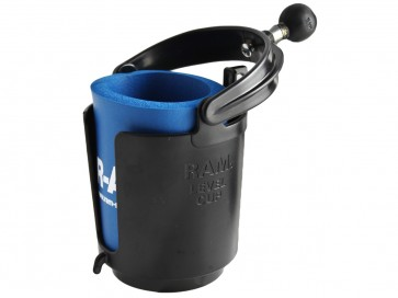 "RAM Self-Leveling Cup Holder with 1"" Ball"