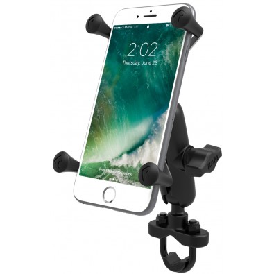 RAM Handlebar U-Bolt Mount with Universal RAM® X-Grip® Large Phone/Phablet Cradle