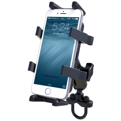 RAM Handlebar U-Bolt Mount with Universal Finger-Grip™ Phone Cradle
