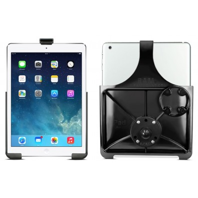 RAM EZ-ROLLR Model Specific Cradle with Round Base Adapter for the Apple iPad Air 1-2