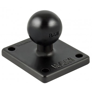 "RAM 2"" x 1.7"" Base with 1"" Ball that Contains the Universal AMPs Hole Pattern for the Garmin zumo, TomTom Rider & Urban Rider"