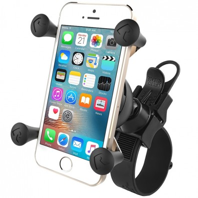 RAM EZ-Strap Rail Mount with Universal X-Grip Phone Holder